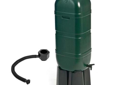 GREEN 100LTR MINI RAINSAVER WATER BUTT + STAND
